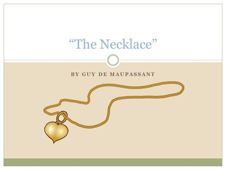 Thesis Of The Necklace