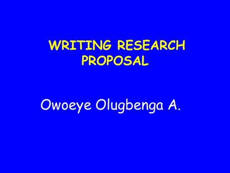 GUIDELINES FOR RESEARCH PROPOSALS   CPUT