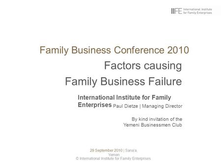 Family Business Conference 2010