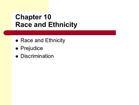 race and ethnicity 10 essay