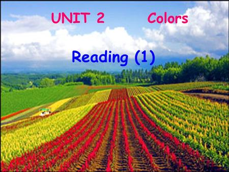 UNIT 2 Colors Reading (1). When can we see a rainbow? We see it after the rain in summer. How many colours are there in a rainbow? There are seven. What.