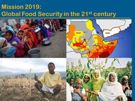 Mission 2019: Global Food Security in the 21 st century.
