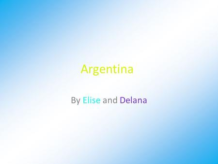 Argentina By Elise and Delana. Argentina's Money Argentina's Money is called the peso. 1 Argentina peso = $0.12 USA dollars.