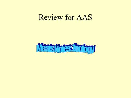 Review for AAS. Vocabulary Palatability: how a food appeals to the palate (smell, sight, taste, texture, etc.) Retail Cuts: small cuts of meat customers.