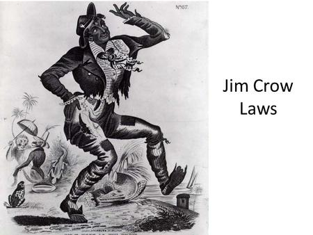 essay on jim crow law