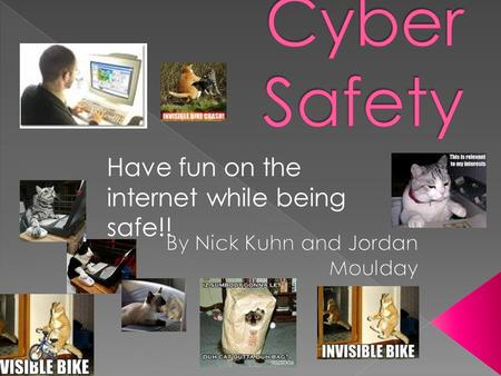 Have fun on the internet while being safe!!  Do you know what cyber safety means?.. YesNo.