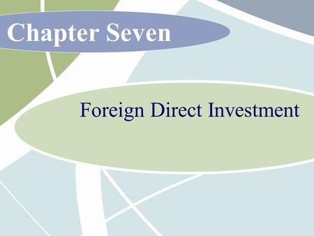 Chapter Seven Foreign Direct Investment. 7 - 2 McGraw-Hill/Irwin International Business, 6/e © 2007 The McGraw-Hill Companies, Inc., All Rights Reserved.