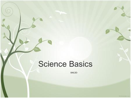 Science Basics SNC2D. What is Science? When asked this question most students would immediately start to visualize Albert Einstein. But, is that what.
