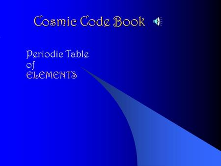 Cosmic Code Book Periodic Table of ELEMENTS aluminum Al aluminum.