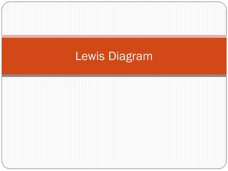 Lewis Diagram. What is a Lewis Diagram? Simplified Bohr diagrams which only consider electrons in outer energy levels are called Lewis Diagram. A Lewis.