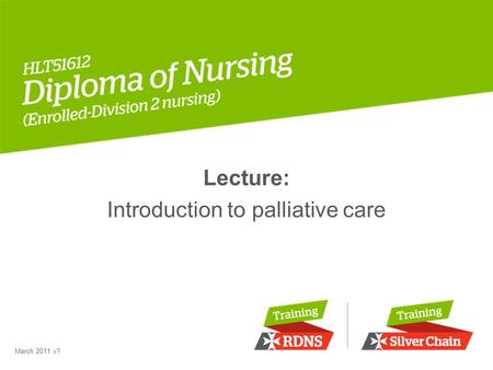 Lecture: Introduction to palliative care March 2011 v?