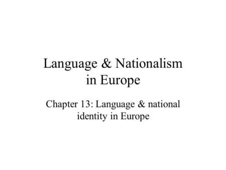 To what extent should nation be the foundation of identity essay