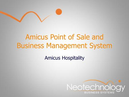 Amicus Point of Sale and Business Management System Amicus Hospitality.