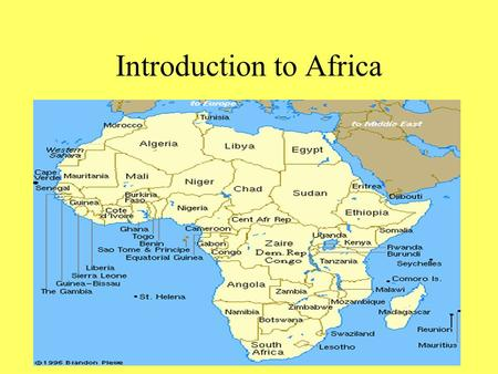 Introduction to Africa. Location Africa is centrally located on the Earth's surface. It straddles the Equator, extending for thousands of miles north.