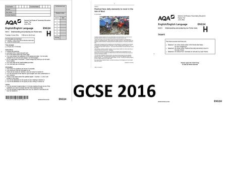 GCSE 2016. Aims of this evening To know the format of the exam that students will be sitting on June the 7 th. To understand the requirements of each.