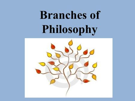Branches of Philosophy. Philosophy consists of seven interrelated branches or main areas. These are…..  Metaphysics…… which studies the nature of being.
