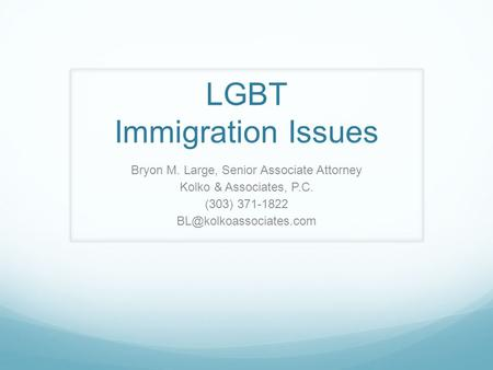 LGBT Immigration Issues