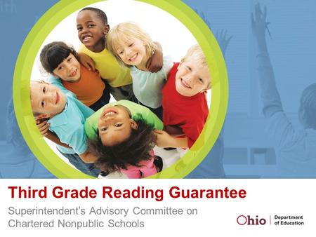 Third Grade Reading Guarantee Superintendent's Advisory Committee on Chartered Nonpublic Schools.