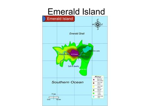 Emerald Island. Factors Contributing to Climate 38°S and 120°E West Australia current makes the water colder. Mt. Saint Emeralla (Volcano) Wind patterns: