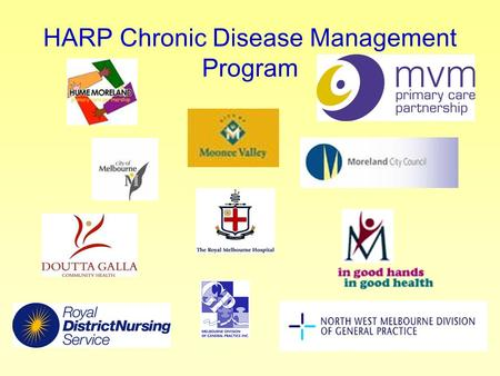 HARP Chronic Disease Management Program. Where We Have Come From? Didn't do it alone Formed a consortium to plan then implement Program evolved over the.