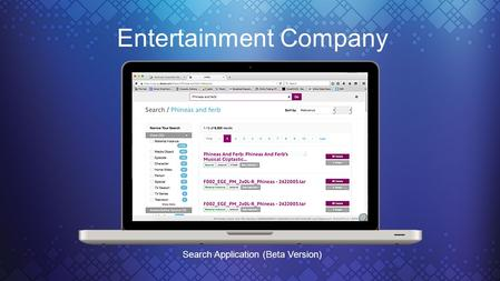 Entertainment Company Search Application (Beta Version)
