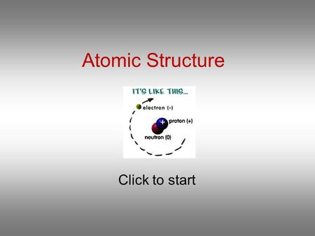 Atomic Structure Click to start Question 1 Which statement is correct about the isotopes of an element? They have the same mass number. They have the.