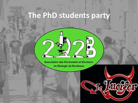 The PhD students party. Are you well settled? 1-YES 2-NO 3-I don't understand the question, so I don't answer 4-Yes, I've already been to Seattle Has.