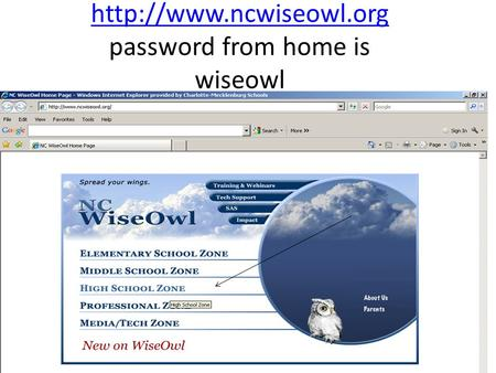 password from home is wiseowl.