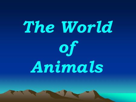 The World of Animals. Match the picture to the word 1.1.2. 3. 4.4. 4.5.6. 7.8.9. A. A duck B. A sheep C. An elephant D. A cow E. A hen F. A tiger G. A.