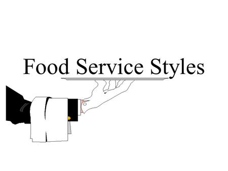Food Service Styles. What is your favorite restaurant of all time? What makes it your favorite? How is the service? What are the roles of the waitresses.