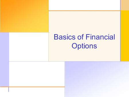 © 2003 The McGraw-Hill Companies, Inc. All rights reserved. Basics of Financial Options.