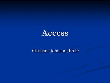 Access Christine Johnson, Ph.D. Changing Face of America.