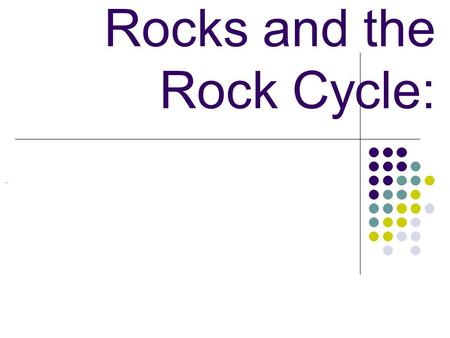 Rocks and the Rock Cycle:. Rocks and the Rock Cycle: Can rocks change from one type to another?