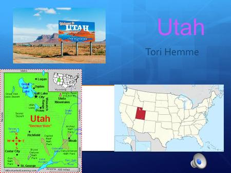 Utah Tori Hemme Geographer  State Capital: Salt Lake City  Region Name: West  3 Major Cities: West Valley City, Provo, Sandy  Major Rivers: Colorado.