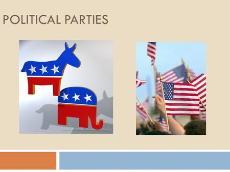 POLITICAL PARTIES. What is the role of political parties? Point out weaknesses in other parties & their candidates. Recommend programs & laws that guide.