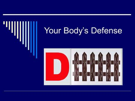 Your Body's Defense. THE BODY'S CAPABILITY OF REMOVING OR KILLING FOREIGN SUBSTANCES, PATHOGENS AND CANCER CELLS Immunity.