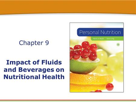 Impact of Fluids and Beverages on Nutritional Health