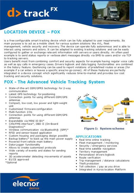 LOCATION DEVICE – FOX is a free configurable smart tracking device which can be fully adapted to user requirements. Its main purpose is to act as a mobile.