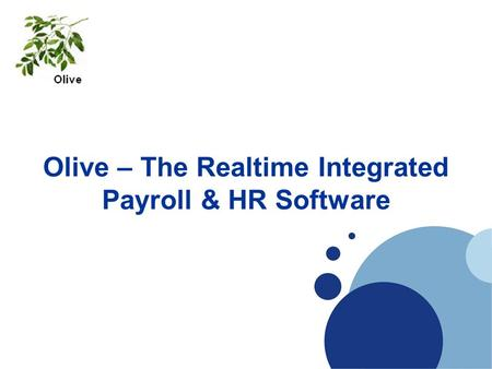 Olive – The Realtime Integrated Payroll & HR Software.