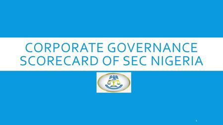 Corporate Governance Scorecard of SEC Nigeria