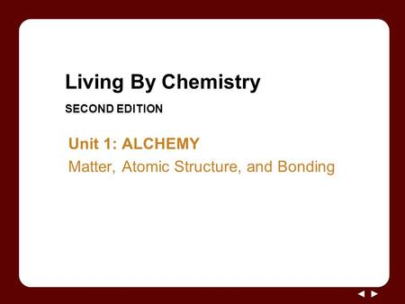 Living By Chemistry SECOND EDITION