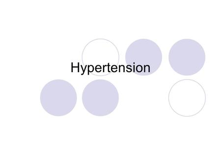 Hypertension. Introduction Hypertension is defined as a consistent elevation of arterial pressure above the normal range expected for a particular age.