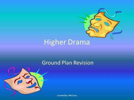 Higher Drama Ground Plan Revision Created by L McCarry.