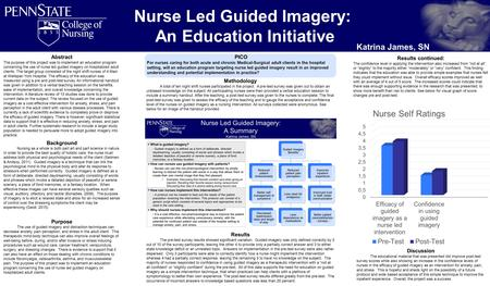 Nurse Led Guided Imagery: An Education Initiative Katrina James, SN Abstract The purpose of this project was to implement an education program concerning.
