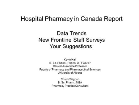 survey report in pharmacy Pharmacy directors across oregon to participate in an online survey the survey was sent via e-mail to 54 hospital pharmacy directors a mark on the patient's medical reconciliation report.