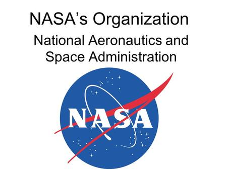 NASA's Organization National Aeronautics and Space Administration.