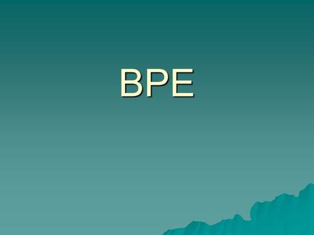 BPE. Course Description: The purpose of this course is to teach students how to acquire knowledge of physical fitness concepts and understand the significance.