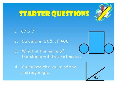Starter Questions 42 o. Visual Times Tables Click on each circles to view the times tables 2x 3x 4x 5x 6x 7x 8x 9x 10x.