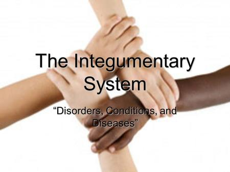 "The Integumentary System ""Disorders, Conditions, and Diseases"""