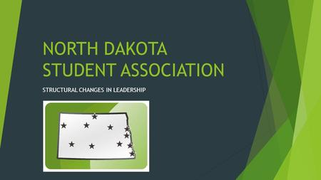 NORTH DAKOTA STUDENT ASSOCIATION STRUCTURAL CHANGES IN LEADERSHIP.